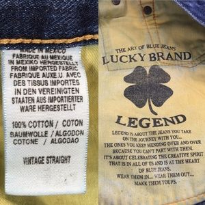 Lucky Brand Jeans - Lucky Vintage Straight Distressed Jeans 36x30